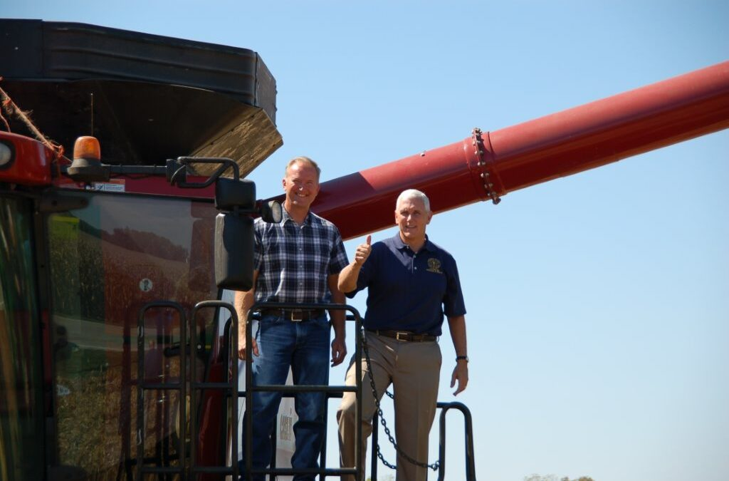 Gov. Pence visits farm of Premier Ag Customer